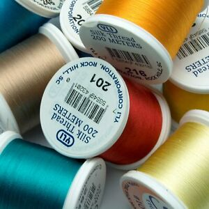 YLI Silk Thread 100wt on 200 meter spools | Choose Colors