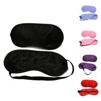 New 1PC Sleep Eye Mask Satin Shading Assist Sleep Eye Mask Travel Accessories