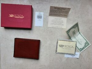 Bosca 6 Pocket Deluxe Executive Wallet plus photo packet BRAND NEW Old Leather