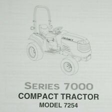 Real Paper Cub Cadet 7000 Series 7254 Owner's Operator Manual Compact Tractor