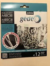 Gedeo Silver Colored Mirror Effect Metal Leaf 12 Leaves Decoration Gilding Pebeo