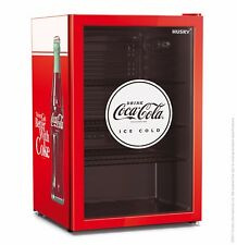 118L Officially Licensed Coca-Cola Undercounter Glass Door Bar Fridge by Husky