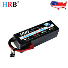 USED HRB 6000mah 3S 11.1V 50C Lipo Battery Hard Case for RC 1/8 1/10 Car Truck