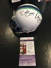 Steve Young, Dwight Clark, Brooks, +1 Auto Autographed Football Mini Helmet JSA