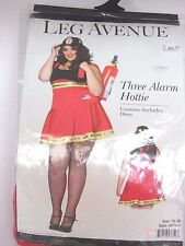Women's Plus Size Fire woman Dress Cosplay Halloween Costume Party Leg Avenue