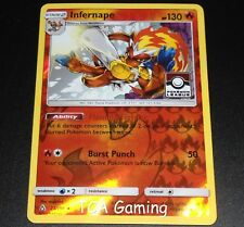 Infernape 23/156 SM Ultra Prism REVERSE HOLO League Promo Pokemon Card NEAR MINT