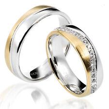 2 Trauringe 925 Silber GRAVUR Eheringe Verlobungsringe Partnerringe D8359 vj