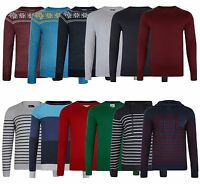 Crosshatch New Men's Jumpers Crew Neck V Neck Hooded Style Knit Sweater Pullover