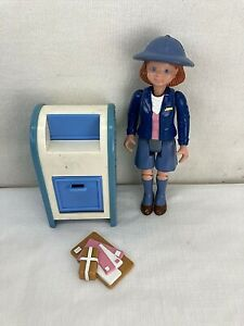 Fisher Price Loving Family Dollhouse Mail Carrier with Letters and Blue Mailbox