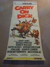 Vintage Movie Poster daybill Carry On Dick Original Australian release 1960s