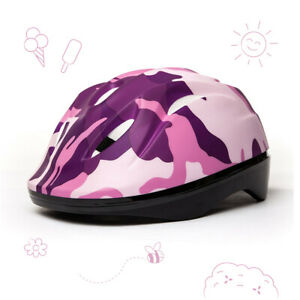 3StyleScooters® Cycle Helmet - Kids Pink Camouflage Safety Helmet - Ages 7-10