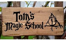 Harry Potter Personalised Name Sign Plaque Deathly Hallows Hogwarts World Magic