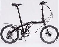 "ALU Klapprad 20"" Faltrad Fahrrad 8 Gang Shimano Scheibenbremsen schwarz matt"