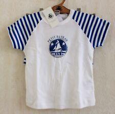 Neuf : Pyjama court 2 pièces PETIT BATEAU 4 ans bleu blanc rayures coton garçon