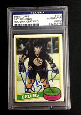 RAY BOURQUE SIGNED 1980 TOPPS ROOKIE CARD #140 PSA/DNA Auto BOSTON BRUINS RC