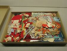 Huge Box of Vintage 1950's/60's Christmas items - See my other Old Santa Clause+