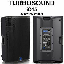 TURBOSOUND IQ15 5000w Active PA System Pair with DSP Ultranet USB Control