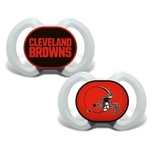 Cleveland Browns Baby Pacifier Set - Officially Licensed NFL BPA Free Set of 2