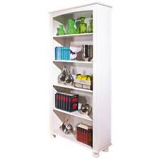 Etagère bibliothèque meuble de rangement salon séjour salle à manger bois BLANC