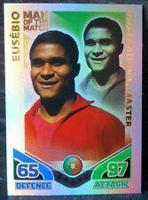 Eusebio Portugal International Master football trading card Topps Match Attax