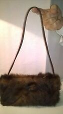 SAC D'EXCEPTION EN FOURRURE VISON MARRON, STANDING NEUF, MADE IN ITALY