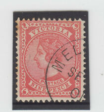 Stamp 9d rose sideface Victoria cancelled to order, MUH original gum but toned