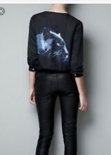 Zara Blue BLACK PANTHER Chat Top Très Rare Sold Out!!! Taille M