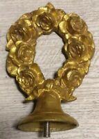 Ornement en bronze doré / ameublement ancien /déco meuble / pendule/ décor Roses