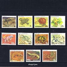 1982 1983 Australia Animals definitives Reptiles & Amphibians Frogs - set of 11