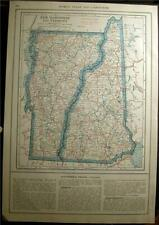 New Listing1921 New Hampshire Vermont State County Auto Road Highway Map Laws History