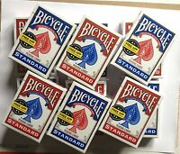 Lot of 12 New Sealed Decks of Bicycle Standard Poker Playing Cards 6-Red 6-Blue