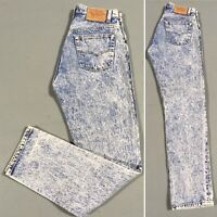 Vintage Acid Wash Levi's 501 Jeans Button Fly USA 30 32 Measure 29 1/2 31 1/2