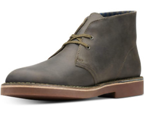 Clarks Men's Olive Bushacre 2 Aubergine Leather Chukka Boots Size 8 M
