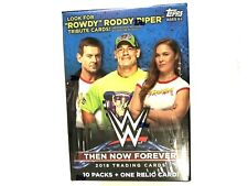 2018 TOPPS WWE THEN NOW FOREVER BLASTER BOX  ( ONE RELIC CARD )
