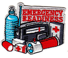 """EMERGENCY READINESS"" IRON ON PATCH - First Aid Supplies, Red Cross, Bandages"