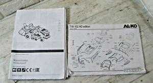 Al-KO T16-102 HD Edition Service Manual &  Part list Art 119726 FREE P&P