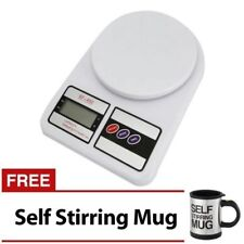 7KG/1G LCD Electronic Kitchen Weighing Scale with Self Stirring Mug (Black)