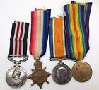 WW1 1914-15 Star Military Medal MM group GRIDLEY 13th R. Fusiliers Burnham Essex