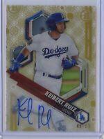 2018 Bowman High Tek KEIBERT RUIZ GOLD On Card AUTO /50 - Los Angeles Dodgers