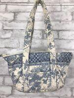 Vintage Indiana Vera Bradley Small Paddy Bag Purse Zip Top ~ Pattern Blue Toile