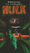 The Incredible Hulk (VHS TAPE TV PILOT MOVIE) BILL BIXBY