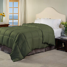 Glorious Down Alternative Comforter 100/200/300 GSM Moss Striped US Full Size