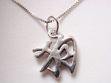 Small Chinese Character for DOG Necklace 925 Sterling Silver Corona Sun Jewelry