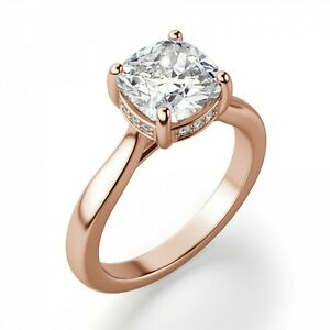 2.00 Ct Moissanite Marquise Cut Rose Gold Birthday Ring 18K Solitaire Girl ring