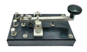 JRC KY-3A Telegraph Key / Morse Key | Vintage Antique Maritime Straight Key