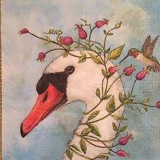 2 single paper napkins decoupage craft or collection Birds Animals Plants Nature