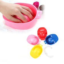 Nail Art Tool Hand Clean Soak Soaking Manicures Bowl Polish Remover Plastic Tray