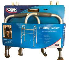 New Carex Folding Walker For Seniors - Adult Walker - Portable Medical 300 Lbs