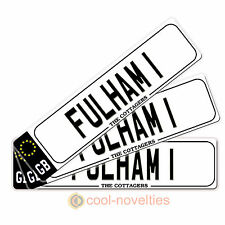 "MINI NOVELTY NUMBER PLATE / BOOKMARK GIFT "" FULHAM 1 "" PERFECT FOR FOOTBALL FANS"