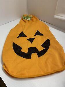 Pumpkin  Pet Dog Halloween Costume Light Up Eyes Size XL